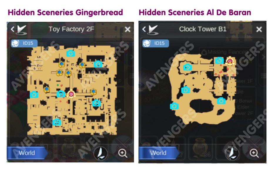 Gingerbread and Al De Baran Hidden Scenery Location
