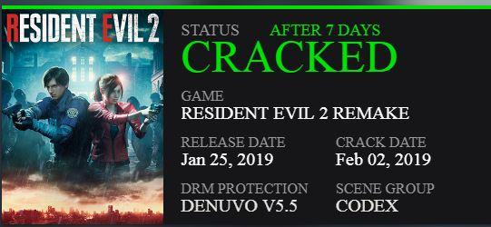 Resident Evil 2: Remake Berhasil di Crack Dalam Waktu 7 Hari