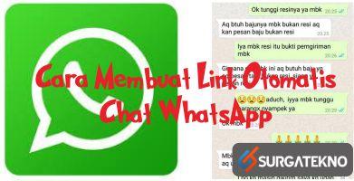 cara membuat link otomatis chat whatsapp