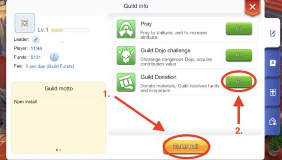guild donation di guild hall