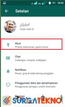langkah 3 - cara menyembunyikan status online whatsapp