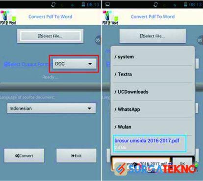 cara convert file pdf ke word di android dengan convert pdf to word