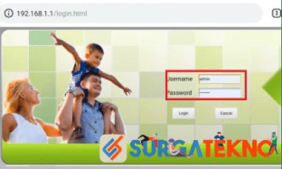 langkah 2 masukkan username dan password indihome