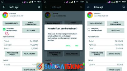 langkah 2 nonaktifkan notifikasi google chrome