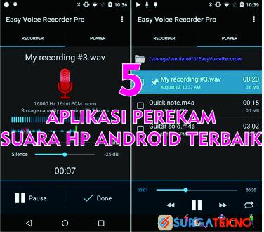 aplikasi perekam suara hp android