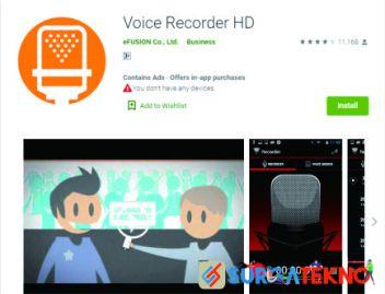 aplikasi voice recorder hd