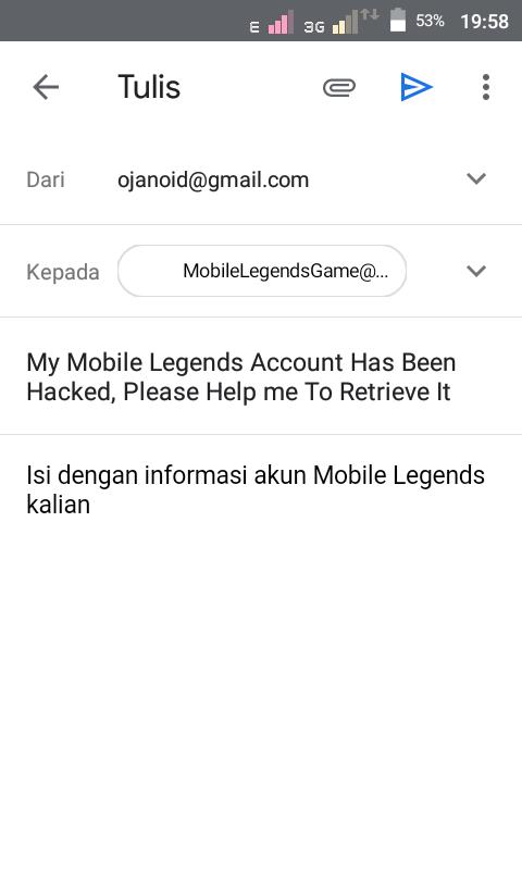 contoh email pengembalian akun mobbile legends