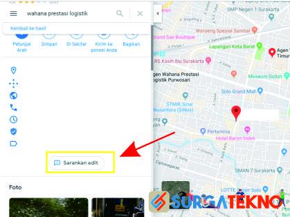 klik menu sarankan edit google maps