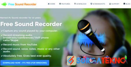 website perekam audio online freesoundrecorder