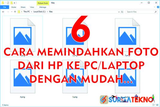cara memindahkan foto dari hp ke pc atau laptop