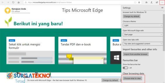 Cara Menghapus History Microsoft Edge
