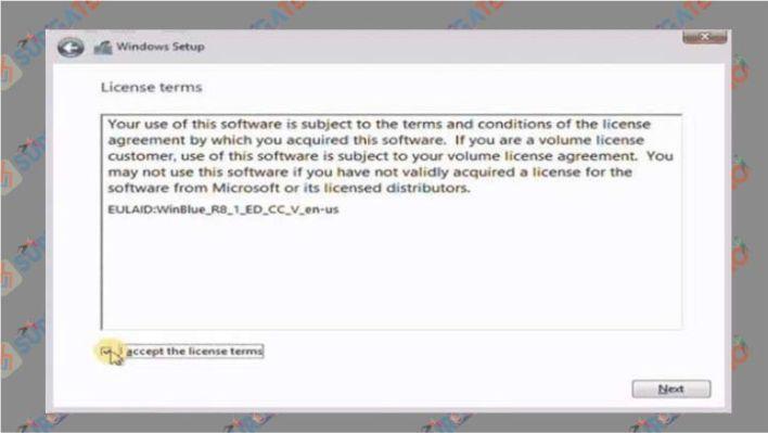 Check pada i accept this license terms Windows 10