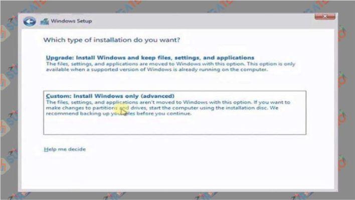 Pilih custom install windows only saat Windows 10