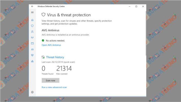 Scan Virus dan Spyware dengan Windows Defender