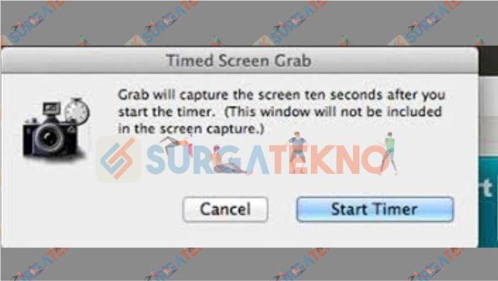 Screenshot dengan Timer di MacOS
