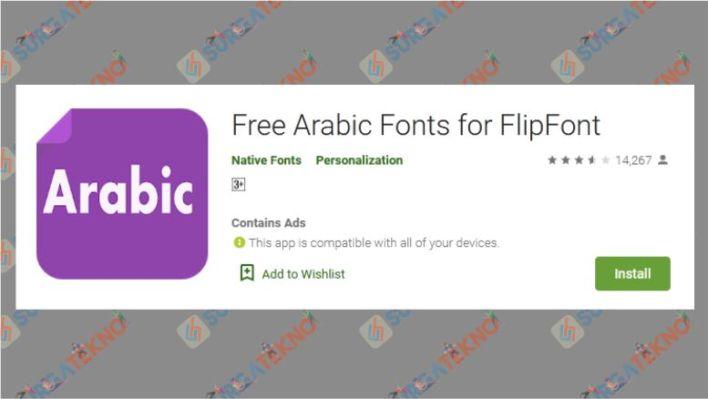 Free Arabic Fonts for FlipFont