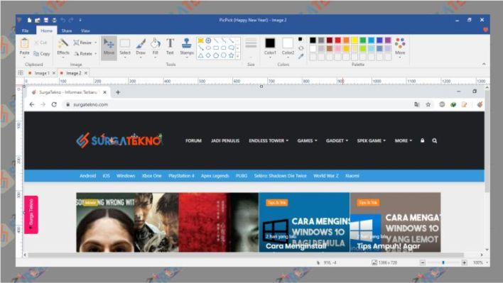 Hasil Screenshot dengan PicPick