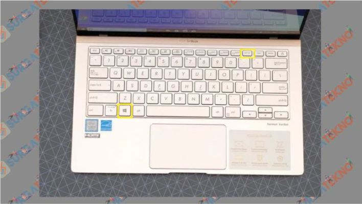 Tombol Windows + PrtSc Laptop Asus
