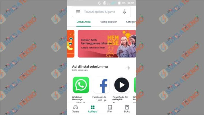 Buka Google Play di Android