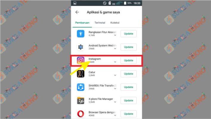 Cari Aplikasi Instagram di Google Play