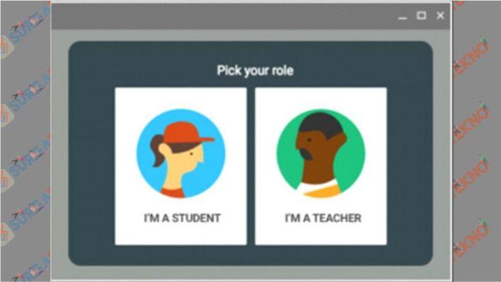 Pilih Siswa atau Guru pada Google Classroom