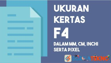 Photo of Ukuran Kertas F4 (mm, cm, inchi, dan pixel)