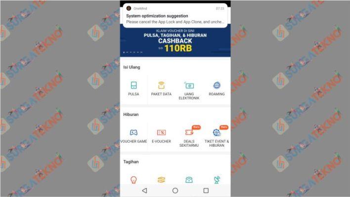 Buka Menu Pulsa, Tagihan & Donasi di Aplikasi Shopee