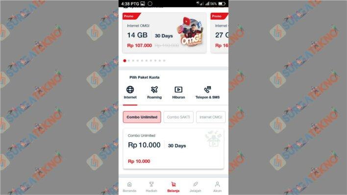 Paket combo unlimited Telkomsel 10 ribu
