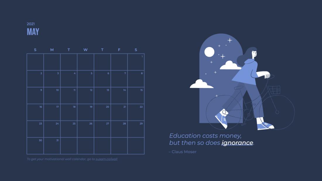 2021 May Motivational Wallpaper –With Calendar 3