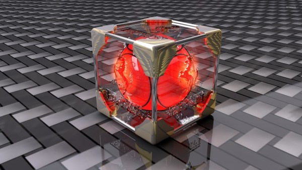 Red orb inside the transparent cube wallpaper - 3D ...