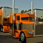 Orange Peterbilt Truck Wallpaper Car Wallpapers 49279