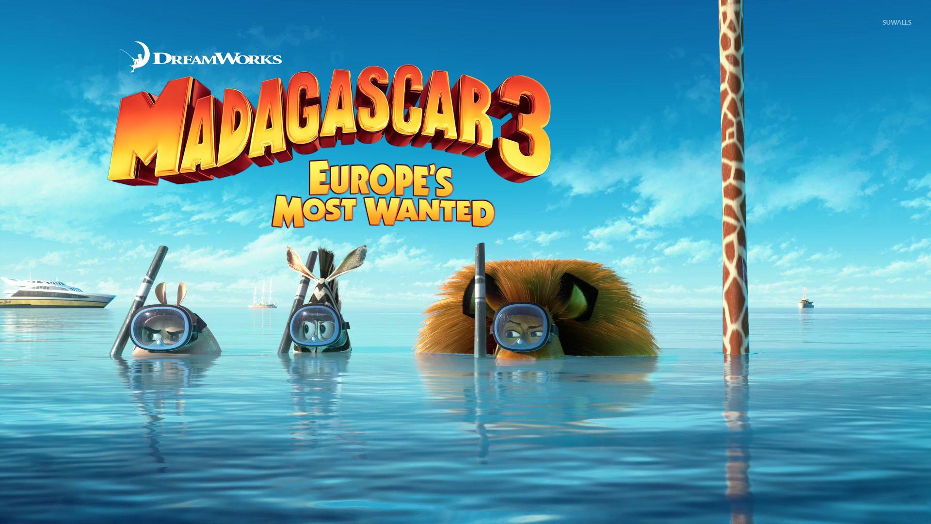 Madagascar 3 Europes Most Wanted 3 Wallpaper Cartoon