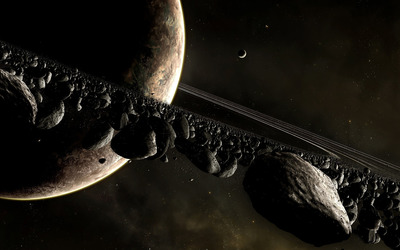 Planets and asteroids wallpaper - Space wallpapers - #15359