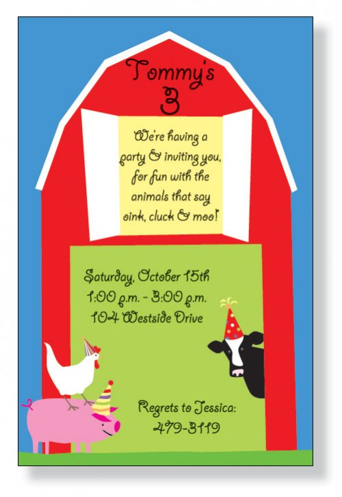 barnyard party invitation