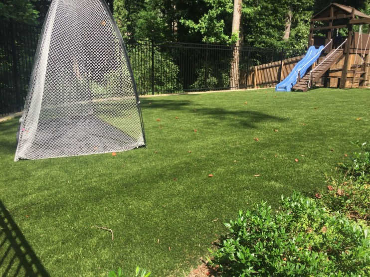 Synthetic Grass in Backyard