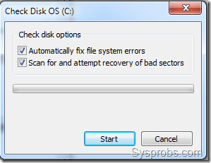 Windows 7 check disk