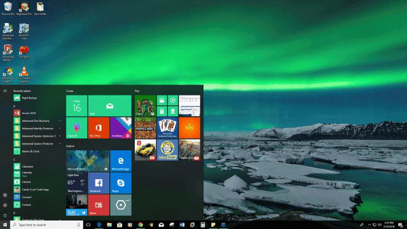 Aurora Borealis - Thème nature Windows 10
