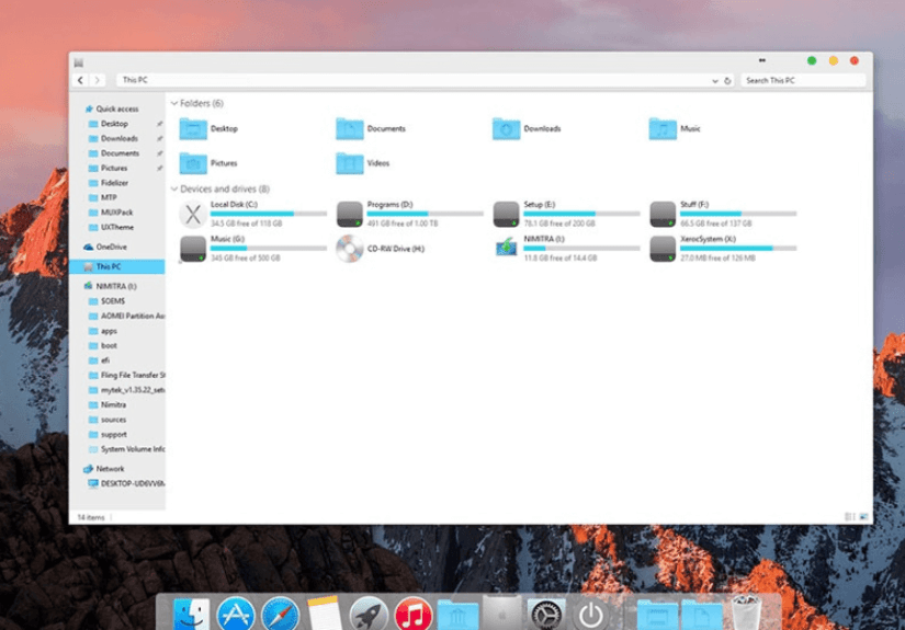 Pack de transformation macOS
