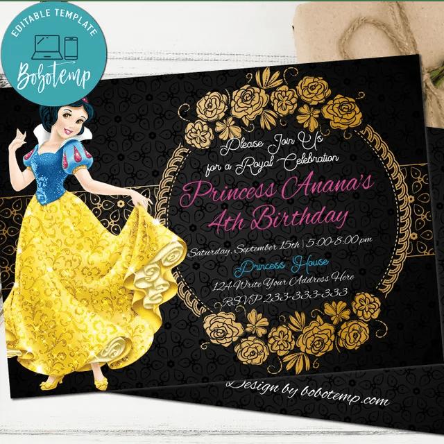 snow white birthday invitation seven dwarfs birthday invitation