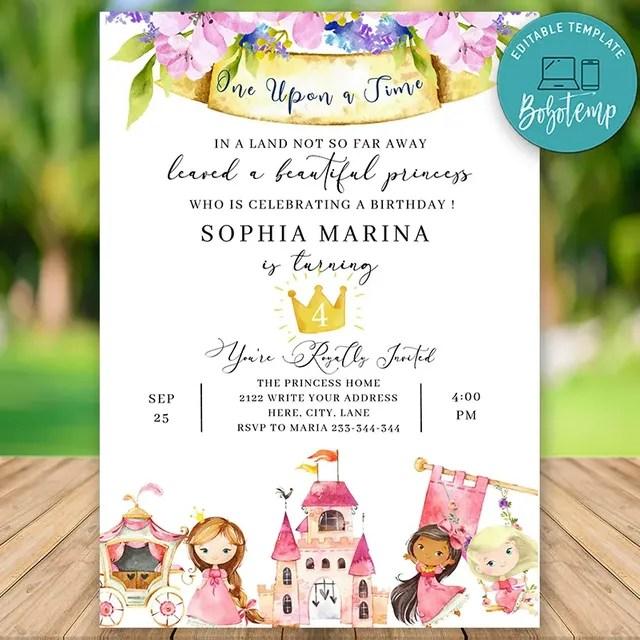 printable royal prince birthday invitation instant download