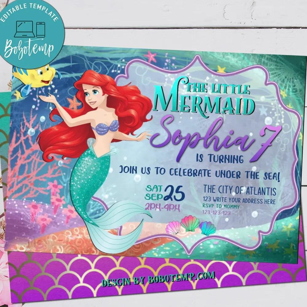 ariel birthday party little mermaid