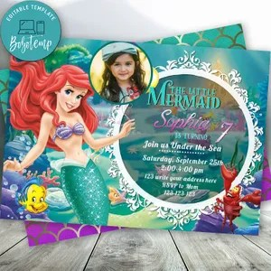 girl parties invitation template