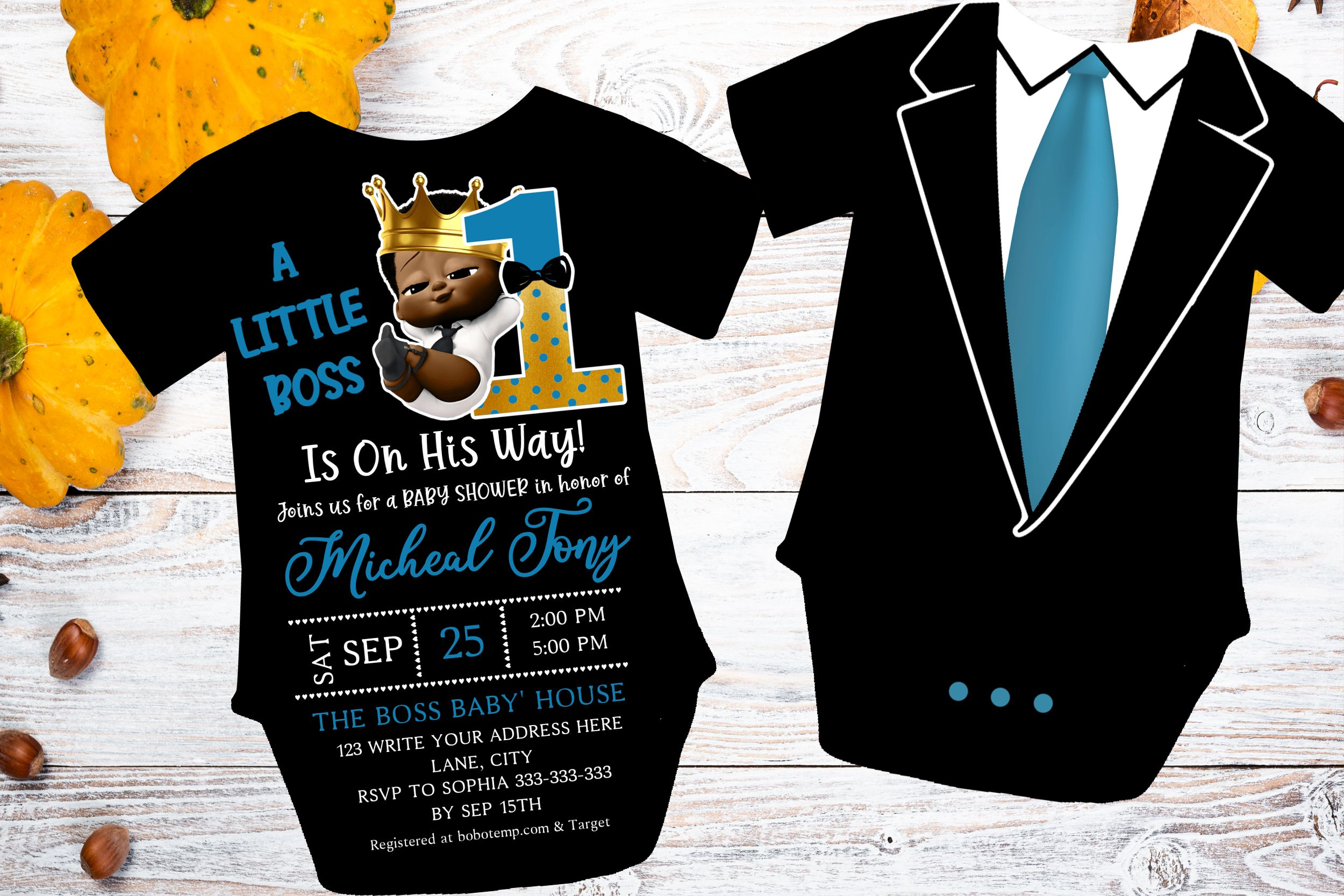 african boss baby baby shower invitation instant editable diy