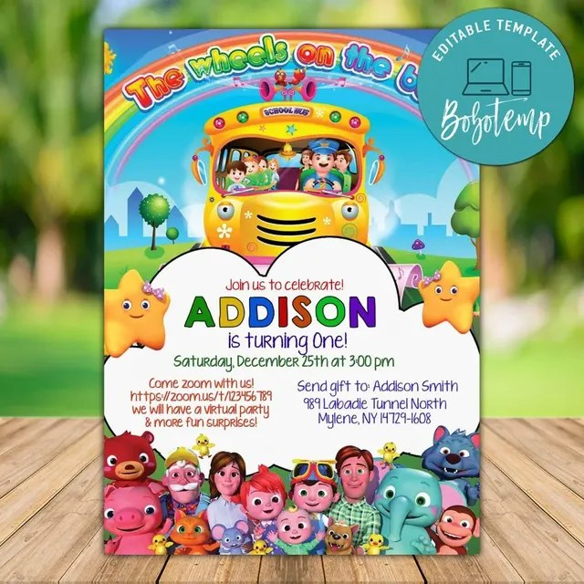 printable cocomelon zoom birthday party video chat template