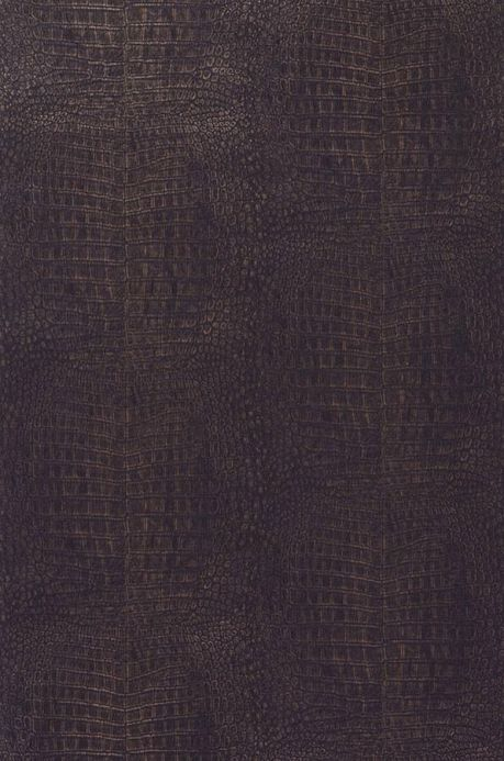 papier peint alligator brun noir