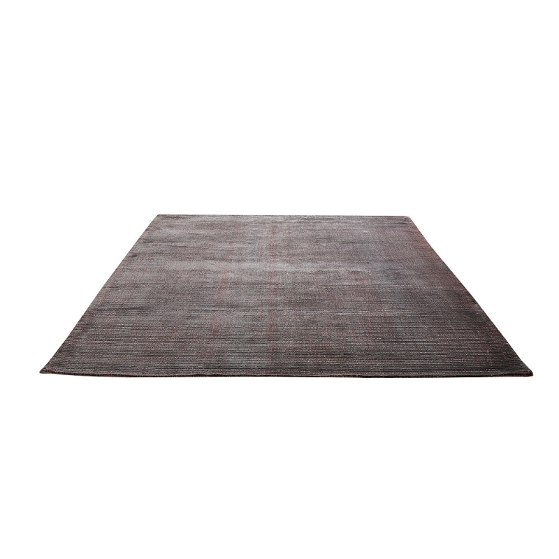 tapis mirage gris et rouge home spirit