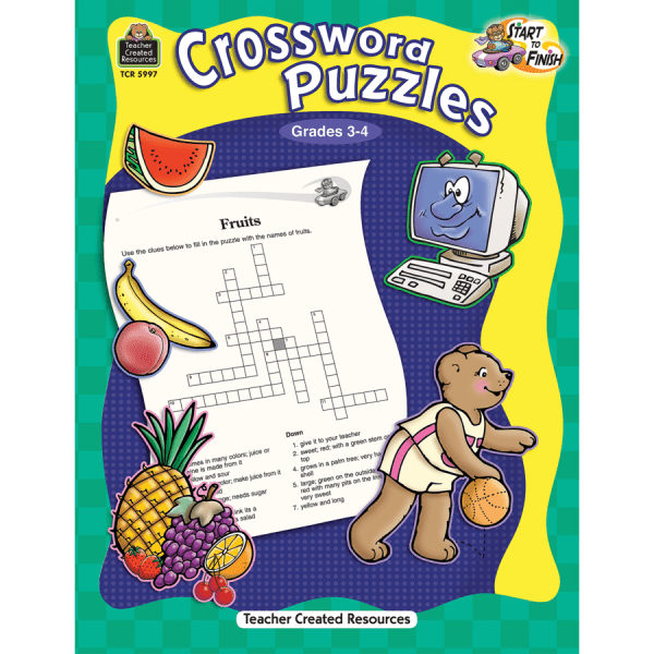 Start to Finish: Crossword Puzzles Grade 3-4 - TCR5997 ...
