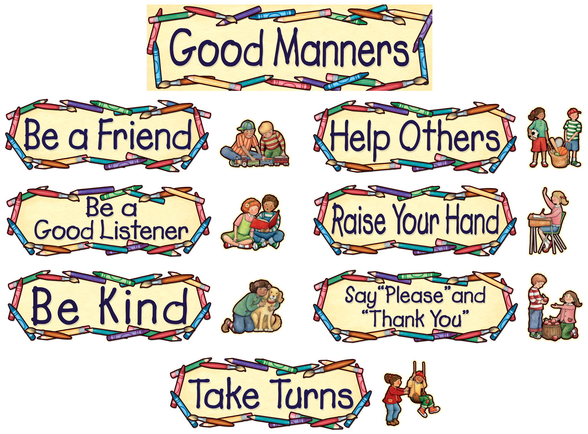 Polite Words Worksheet Printable