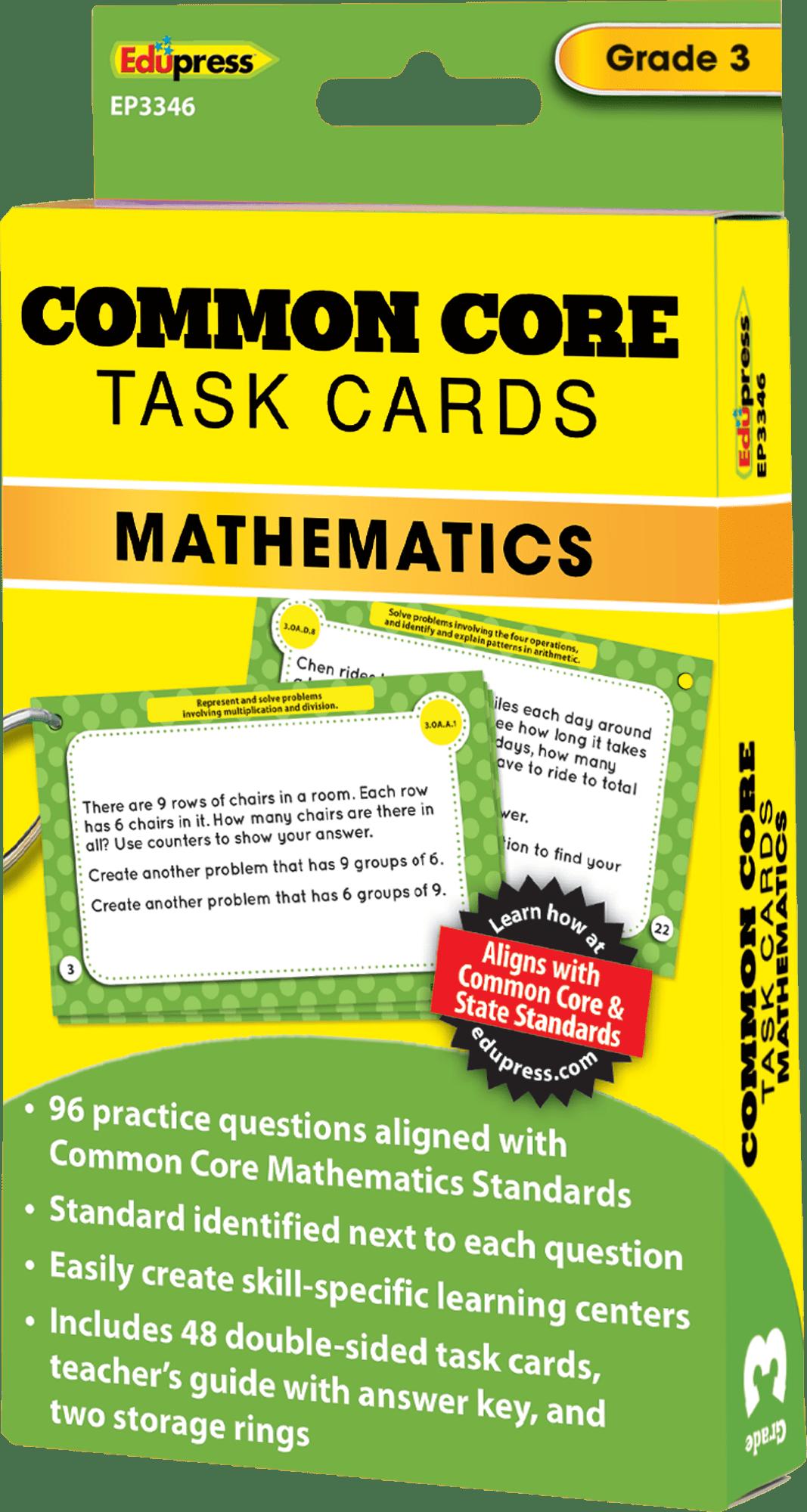 Common Core Math Task Cards Grade 3