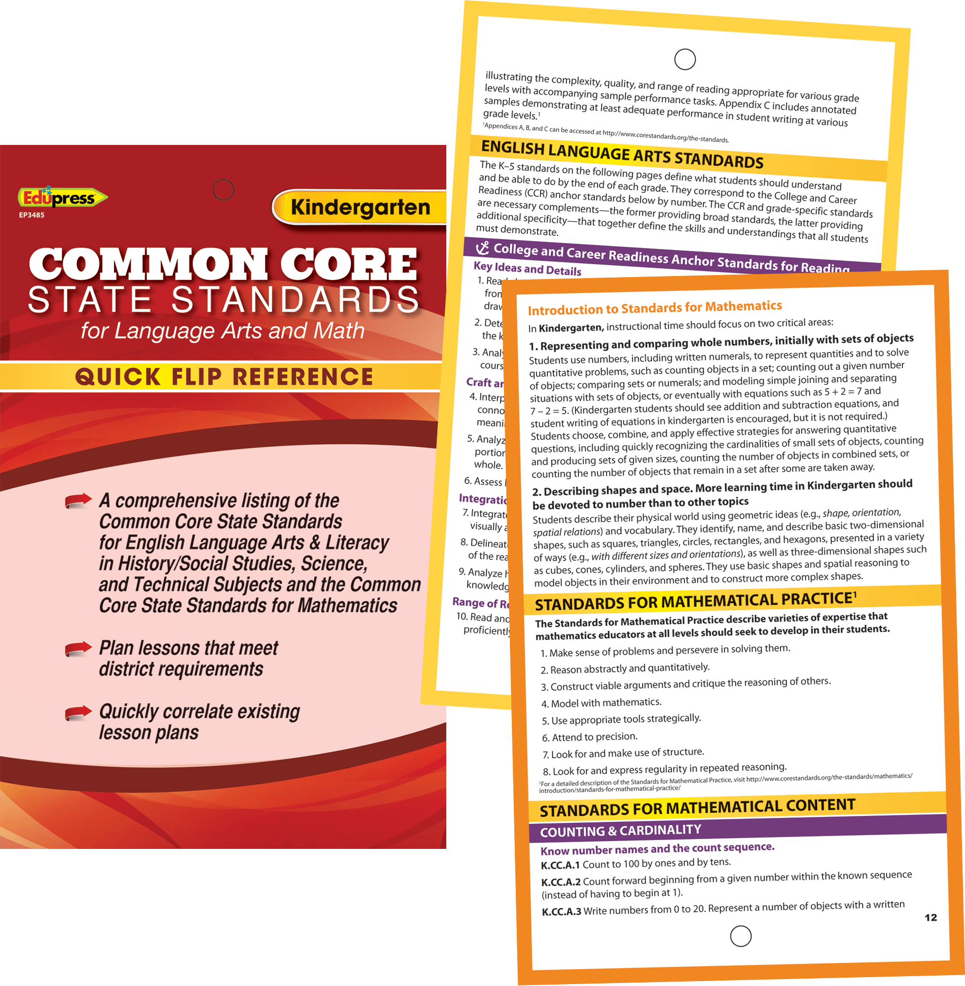 Quick Flip Reference For Common Core State Standards Grade